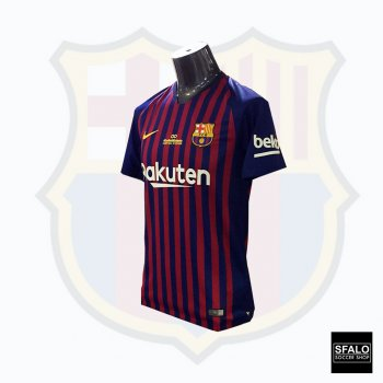 Nike FC Barcelona  18/19 (H) S/S Men's Jersey with Iniesta Nameset + Matchday Badge 894430-456