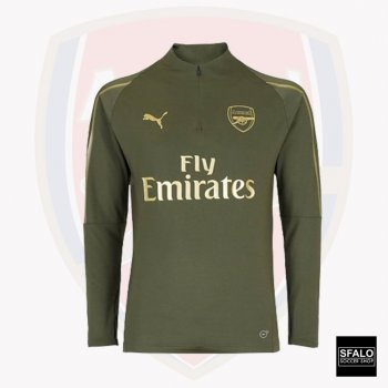 Puma Arsenal 18/19 1/4 Zip Top- Forest Night 753261-02