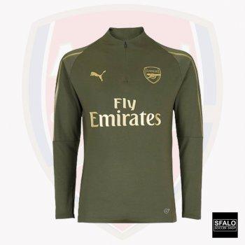 Puma Arsenal 18/19 1/4 Zip Top- Forest Night 753261-02