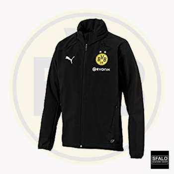 Puma BVB 18/19 Rain Jacket With Sponsor - Black  753377-02