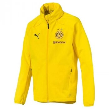 Puma BVB 18/19 Rain Jacket With Sponsor - Cyber Yellow  753377-01