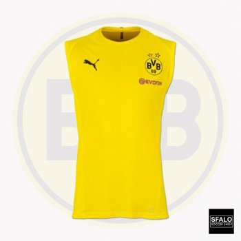 Puma BVB 18/19 SL Training Jersey With Sponsor - Cyber Yellow 753364-01