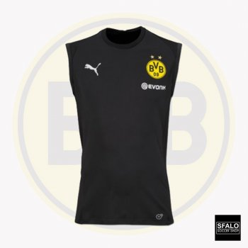 Puma BVB 18/19 SL Training Jersey With Sponsor - Black 753364-02