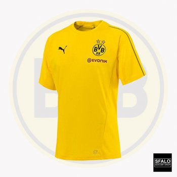 Puma BVB 18/19 Training Jersey With Sponsor - Cyber Yellow 753358-01