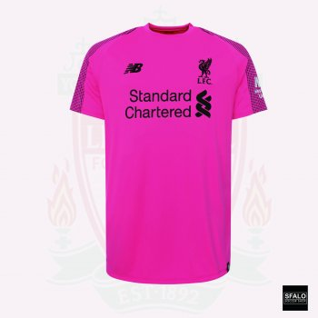 New Balance Liverpool 18/19 (3rd) Goalkeeper Jersey With A. Becker #13 Nameset (Premier League Fonts) + Premier League Patch