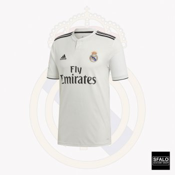 Adidas Real Madrid 18/19 (H) LFP Version S/S Jersey CG0550 with Player Nameset