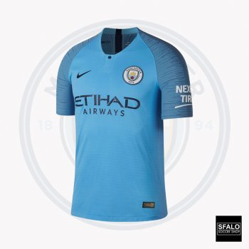 Nike Manchester City 18/19 (H) S/S 847261-489 with EPL Nameset