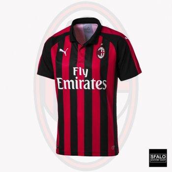 Puma AC Milan 18/19 (H) S/S Men's Jersey 754419-06 with Player Nameset