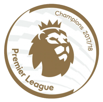 EPL 17/18 CHAMPION GOLD BADGE (MAN CITY 18/19)