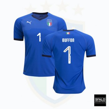 Puma National Team 2018 Italy (H) Authentic Jersey 752279-01 with Buffon Nameset