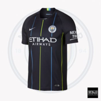 Nike Manchester City 18/19 (A) S/S 919002-476 with EPL Nameset