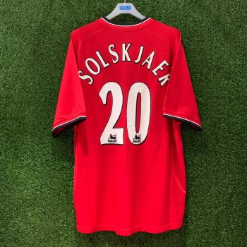 Umbro Man Utd 00-01 (H) S/S Jersey with #20 Solskjaer Nameset