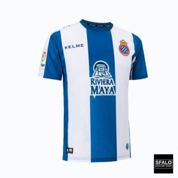 Kelme RCD Español 18/19 (H) S/S Jersey  + #24 Wu Lei Nameset + Sponsor