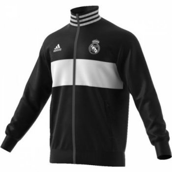 adidas Real Madrid 3-Stripes Track Jacket - Black CW8698
