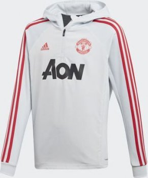 adidas Manchester United Warm Top Boys Size Grey DX6201