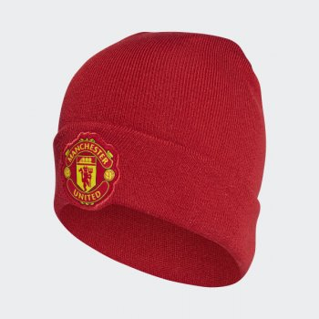 adidas Manchester United Home Beanie - Red CY5592