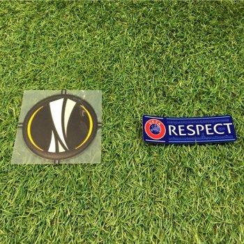 UEFA Europa League Badge + Respect Badge