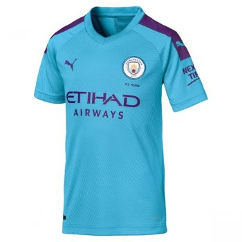 Puma Manchester City 19/20 (H) Replica S/S Boy 755588-01