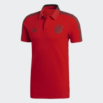 Adidas Bayern FC 18/19 Cotton Polo Shirt - RED CW7280