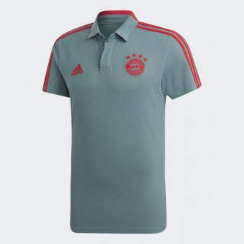 Adidas Bayern FC 18/19 Cotton Polo Shirt - GREY  CW7282