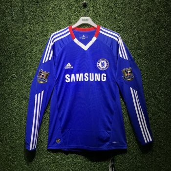 Adidas Chelsea 10/11 (H) L/S P95899 With Nameset & Badge