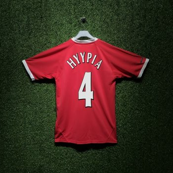 Reebok Liverpool FC 01/02(H) Champions League S/S JSY 219176 With Nameset(#4 HYYPIA)