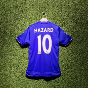 Adidas Chelsea 15/16 (H) S/S AH5104 With Nameset (#10 HAZARD) & EPL Champions Badge