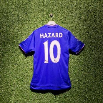Adidas Chelsea 15/16 (H) S/S AH5104 With Nameset (#10 HAZARD) & EPL Champions Badge