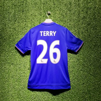 Adidas Chelsea 15/16 (H) S/S AH5104 With Nameset (#26 TERRY) & EPL Champions Badge