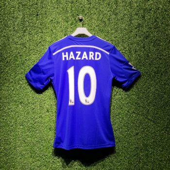 Adidas Chelsea 14/15 (H) S/S G92151 With Nameset (#10 HAZARD) & EPL Badge