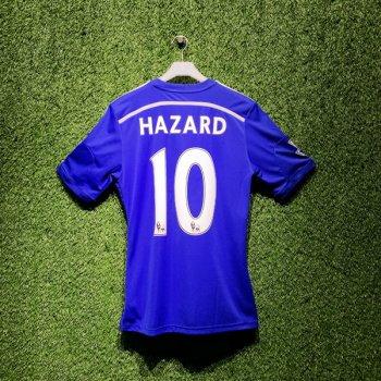 Adidas Chelsea 14/15 (H) S/S G92151 With Nameset (#10 HAZARD) & EPL Badge