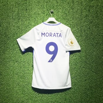 Nike Chelsea FC 17/18 (A) Men's Jersey 905512-044 With Nameset (#9 MORATA) & EPL Champion Badge