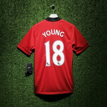 Nike Man Utd 13/14 (H) S/S 532837-624 With Nameset (#18 YOUNG)