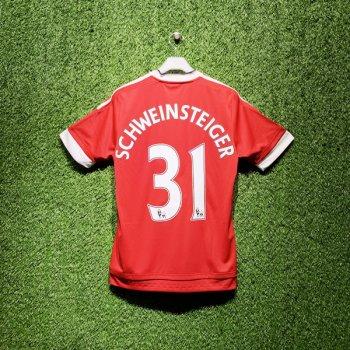 Adidas Manchester United 15/16 (H) S/S AC1414 With Nameset (#31 SCHWEINSTEIGER)