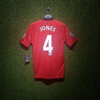 Nike Man Utd 13/14(H) S/S JSY With Nameset(#4 JONES) and EPL Champion Badge