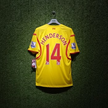 New Balance Liverpool FC 14/15(A) S/S JSY With Nameset (#14 HENDERSON) and EPL Badge