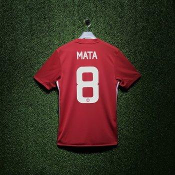 Adidas Man Utd 16/17(H) S/S JSY With Nameset(#8 MATA)