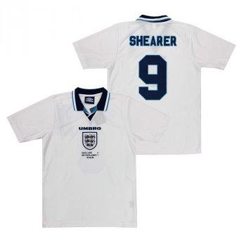 England Retro 1996 Euro Championship Home Shirt with #9 SHEARER nameset