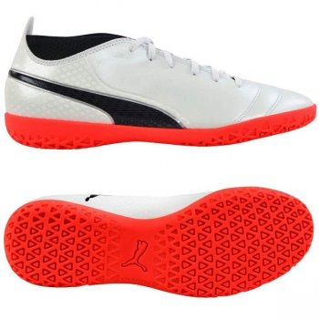 Puma One 17.4 IT White -Black-Coral 104079 01