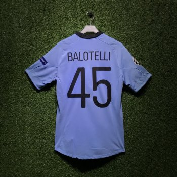 MAN CITY 12/13  (H) S/S 73702U with Nameset and Badge (#45 BALOTELLI)