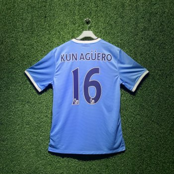 MAN CITY 13/14 S/S (H) 574863-489 with EPL Nameset (#16 KUN AGUERO)