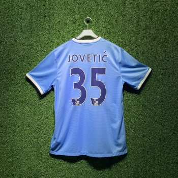 MAN CITY 13/14 S/S (H) 574863-489 with EPL Nameset (#35 JOVETIC)