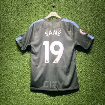 NIKE MCFC 17/18  BRT STADIUM JSY with EPL Nameset #19 SANE + EPL Badge