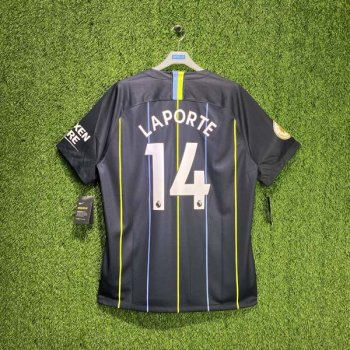 NIKE MCFC 18/19 (AWAY) S/S JSY w/ Nameset #14 LAPORTE + EPL BADGE