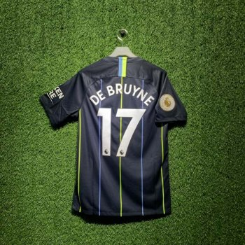 NIKE MCFC 18/19 A S/S JSY with EPL Nameset #17 DE BRUYNE + BADGE