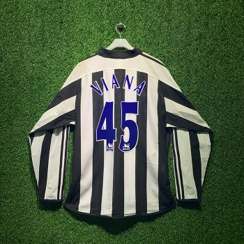 ADIDAS Newcastle United 2003/04 L/S With Nameset(#45 VIANA)