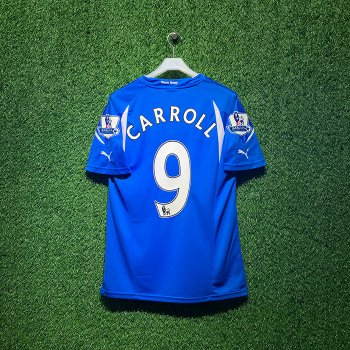 ADIDAS Newcastle United 10/11 AWAY S/S With Nameset(#9CARROLL)+ EPL BADGE