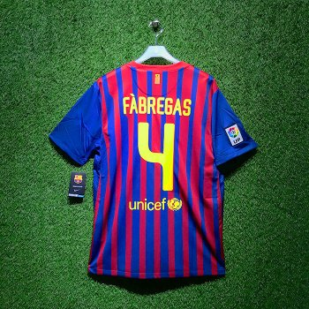 NIKE FC Barcelona 11/12 (H) JSY 419877-486 With Nameset (#4 FABREGAS)