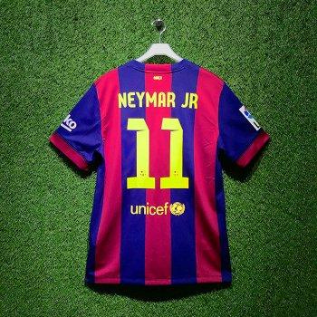 NIKE FC Barcelona 14/15 (H) JSY LS With Namset(#11 NEYMAR JR)