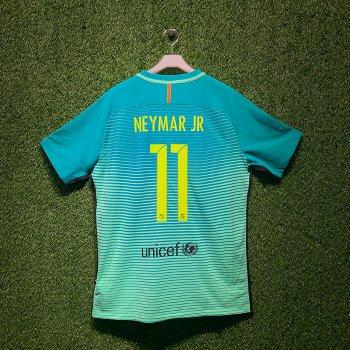 NIKE FC Barcelona 16/17 (3RD) PLAYER JSY With Namset (#11 NEYMAR JR)